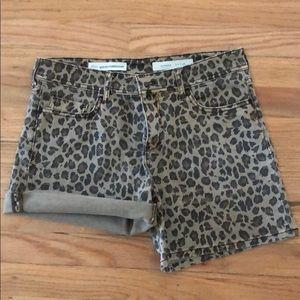 Anthropologie Pilcro Hyphen Leopard Shorts - 26